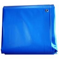 Bâche Bleue PVC 640g dimensions 4,37 x 5 m