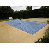 Bâche Bleue Polyéthylène 140g dimensions 8 x 14 m