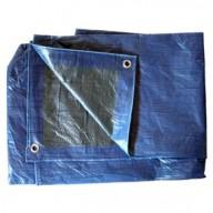 Bâche Bleue et Verte Polyéthylène 80g dimensions 1,5 x 6 m
