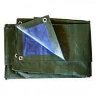 Bâche Bleue et Verte Polyéthylène 140g dimensions 6 x 10 m