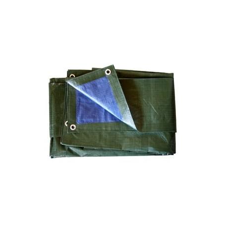 Bâche Bleue et Verte Polyéthylène 140g dimensions 10 x 15 m