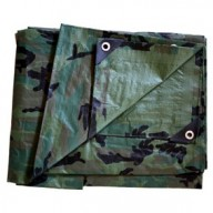 Bâche Camouflage Polyéthylène 140g dimensions 1,8 x 3 m
