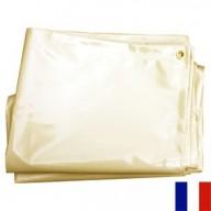 Bâche Ivoire PVC 640g dimensions 3 x 3 m