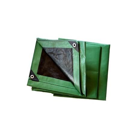 Bâche Noire et verte Polyéthylène 230g dimensions 5 x 8 m