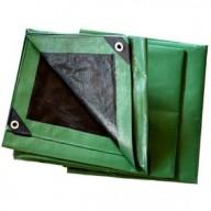 Bâche Noire et verte Polyéthylène 230g dimensions 8 x 12 m