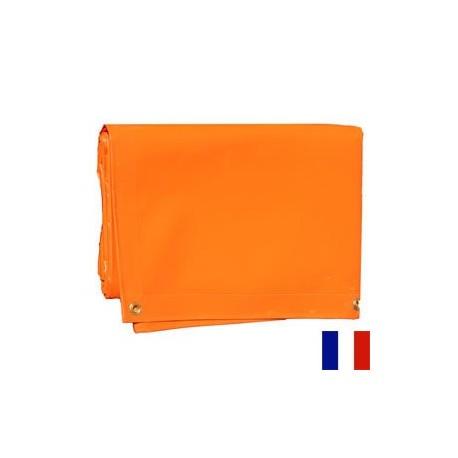 Bâche Orange PVC 640g dimensions 2,90 x 5 m