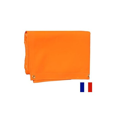 Bâche Orange PVC 640g dimensions 4,37 x 5 m