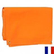 Bâche Orange PVC 640g dimensions 4,37 x 6 m