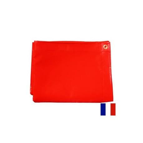 Bâche Rouge PVC 640g dimensions 4,37 x 5 m