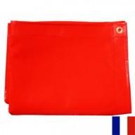 Bâche Rouge PVC 640g dimensions 5,87 x 7 m