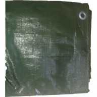 Bâche Verte Polyéthylène 230g dimensions 6 x 8 m