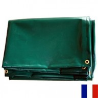 Bâche Verte PVC 640g dimensions 4,37 x 6 m