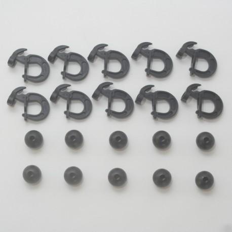 Boules et crochets pour élastique de 8mm