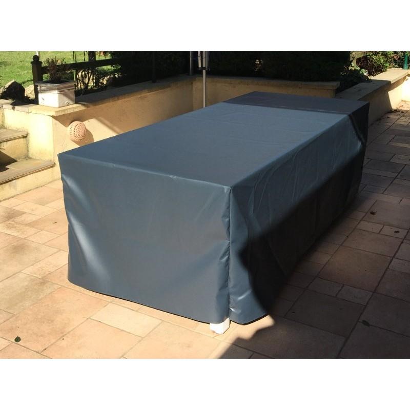 housse pour mobilier de jardin 210x120x85 cm en pvc 560g mfm baches. Black Bedroom Furniture Sets. Home Design Ideas