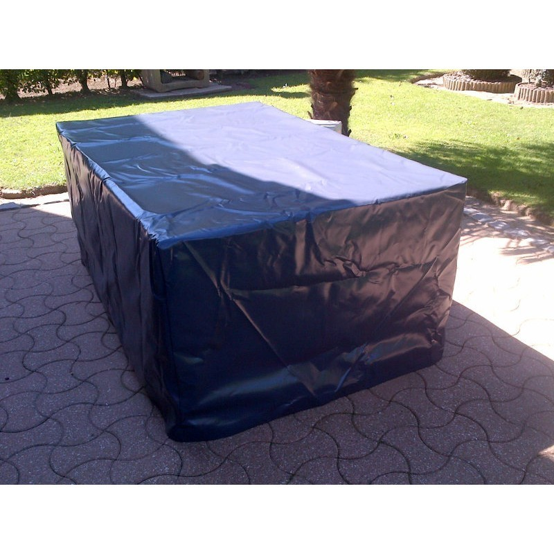 housse pour mobilier de jardin 190x150x50 cm en pvc 560g mfm baches