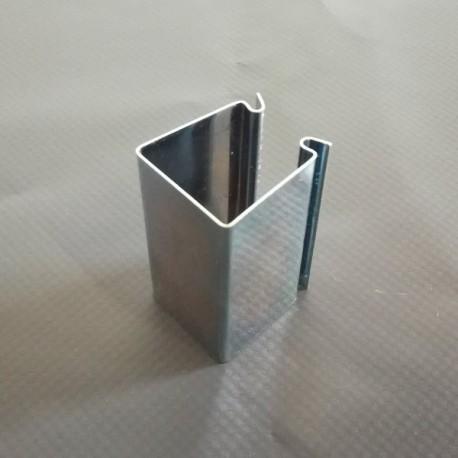 Clip pour serre carré en acier 25mm