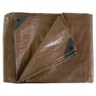Bâche à bûches polyéthylène 140 g/m² 150x600 cm environ marron