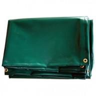 Bâche à bois en PVC 640 g/m² 140x600 cm vert