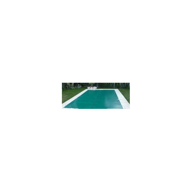B che d 39 hivernage pour piscine 6 x 10 m en pvc 560g m for Piscine bache caoutchouc