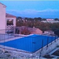 Bâche d'hivernage pour piscine 6 x 14 m en PVC 640g