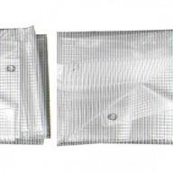 Bâche de couvreur transparente 4 x 10 m